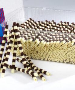 "Chocolate Cigarettes Zebra Tube 4""/10cm"