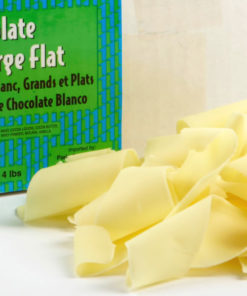 White Chocolate Shavings Large Flat