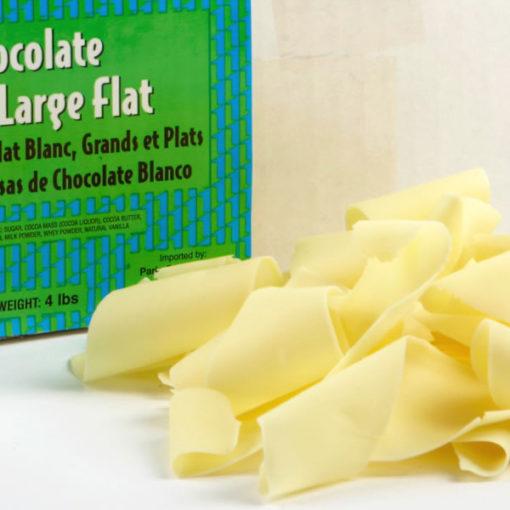 White Chocolate Shavings Large Flat
