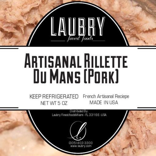 LAUBRY Small Rillettes Du Mans (Pork) +/- 200gr