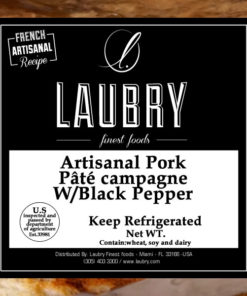 LAUBRY Small Pâté Campagne W/Black Pepper (Pork) +/- 200gr